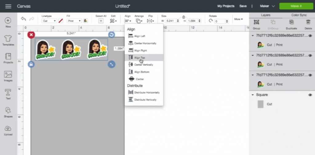 How to make Bitmoji Stickers: make a full sheet of stickers