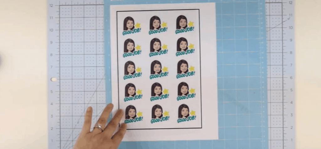How to make Bitmoji Stickers: cut out sticker sheet