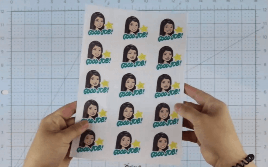 How to make Bitmoji Stickers: completed stickers