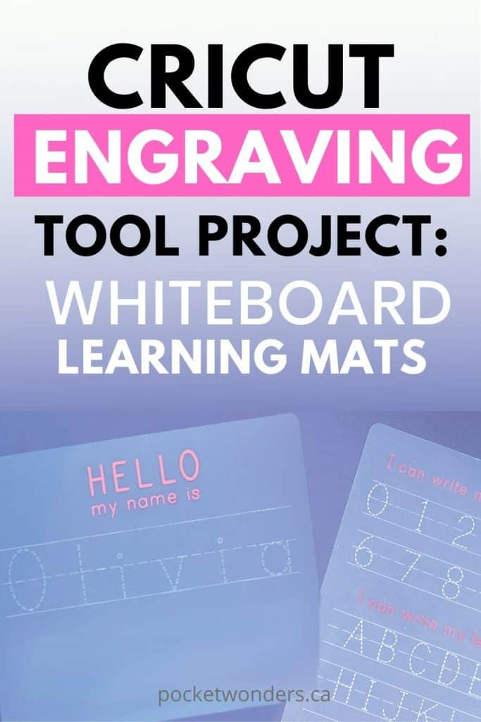 Cricut Engraving Tool Project: Whiteboard Learning Mats