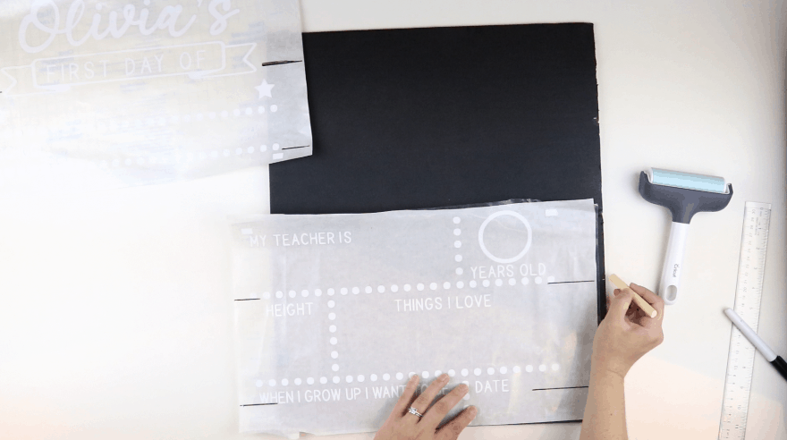 DIY Back to School Chalkboard Sign: Draw guidelines